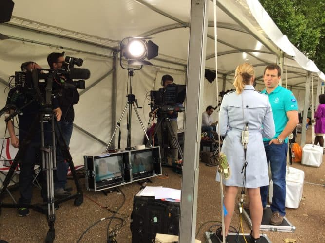 Peter Phillips was interviewed by BBC News before the Patron's Lunch