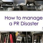 Managing a public relations disaster