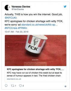 KFC chicken shortage rebrand