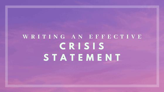 crisis statement - case study