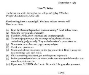 Good writing guide